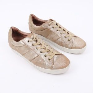 Joie Dakota Rose Gold Leather Lace Up Sneakers